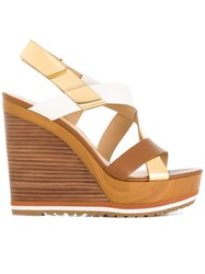 Michael Michael Kors Mackay Wedge Sandals Brown