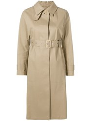 Mackintosh Fawn Bonded Cotton Fly Fronted Trench Coat Brown