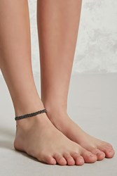 Forever 21 Braided Chain Anklet Gold Black