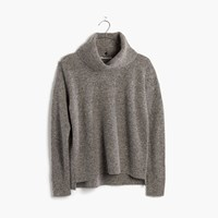 Madewell Donegal Convertible Turtleneck Sweater Gravel Donegal