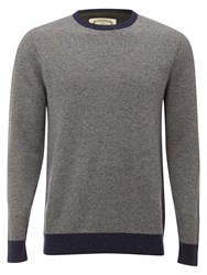 White Stuff Men's Truck Texture Crew Knit Indigo