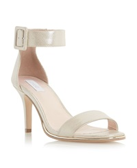 Untold Milly Buckle Strap Sandals Nude