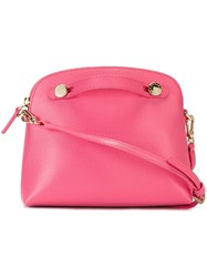 Furla Top Zip Dome Bag Pink And Purple