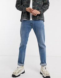 Replay Rocco Regular Fit Jeans In Light Wash Blue