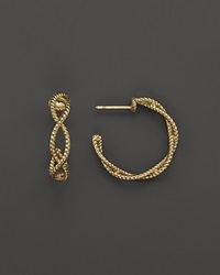 Roberto Coin 18K Yellow Gold Twisted Hoop Earring Bloomingdale's Exclusive