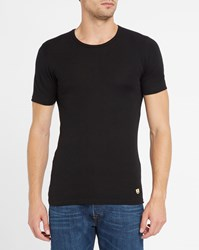 Armor Lux Charcoal Wool And Cotton T Shirt Grey