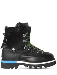 Dsquared 50Mm Leather Ankle Hiking Boots Black