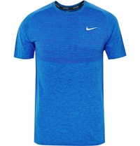 Nike Running Dri Fit Knit Running T Shirt Blue