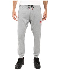 Nike Advance 15 Fleece Jogger Dark Grey Heather Black University Red Men's Fleece Gray