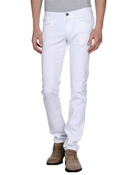 It's Met Denim Denim Trousers Men White