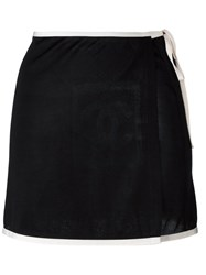 Chanel Vintage Tie Fastening Skirt Black