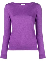Snobby Sheep Boat Neck Sweater Pink And Purple