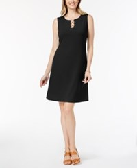 Jm Collection Petite Three Ring Sheath Dress Created For Macy's Deep Black