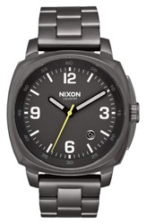 Nixon Men's Charger Bracelet Watch 42Mm Gunmetal