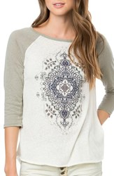 O'neill Women's 'Magnolia' Graphic Baseball Tee