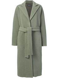 Gianluca Capannolo Belted Single Breasted Coat Green