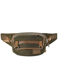 Master Piece Potential Leather Trim Waist Pack Green