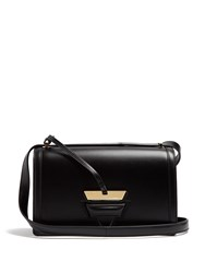 Loewe Barcelona Leather Shoulder Bag Black
