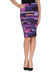 Calla Knee Length Skirts Purple