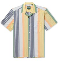 Gitman Brothers Vintage Camp Collar Striped Cotton Shirt Multi