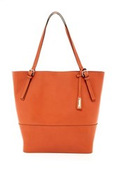 Abro North To South Saffiano Tote Orange