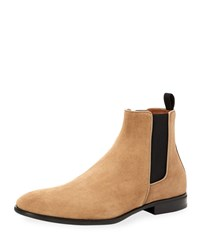 Aquatalia By Marvin K Adrian Suede Dress Boot W Stretch Inset Sand
