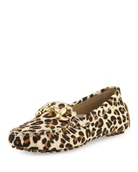 Patricia Green Leopard Print Calf Hair Loafer