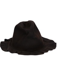 Horisaki Design And Handel Distressed Felt Hat Brown