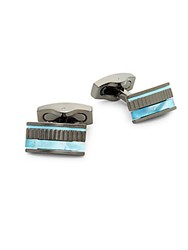 Hickey Freeman Mother Of Pearl Cufflinks Blue