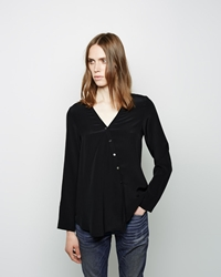 6397 Collarless Shirt Black
