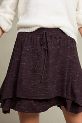 Anthropologie Alize Layered Skirt Plum