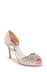 Women's Badgley Mischka 'Candance' Crystal Embellished D'orsay Pump Light Pink
