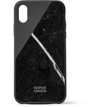 Native Union Clic Marble And Rubber Iphone X Case Black