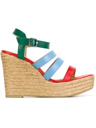 Castaner Castaner Strappy Wedged Sandals Multicolour