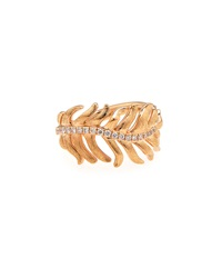 Mimi So 18K Rose Gold Pave Phoenix Feather Ring Size 6