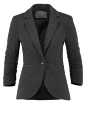 Vero Moda Vmjinkly Blazer Dark Grey Melange Mottled Dark Grey