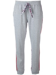 Sold Out Frvr Checked Sides Jogging Trousers Women Cotton 42 Grey