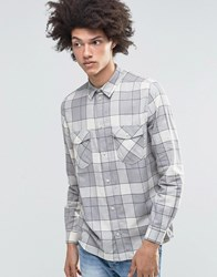Weekday West Check Flannel Shirt Grey Grey 08 220
