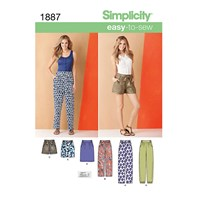 Simplicity Shorts Trousers And Skirts Sewing Pattern 1887