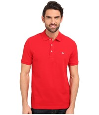 Lacoste Stretch Petit Piqu Slim Fit Polo Red Men's Short Sleeve Pullover