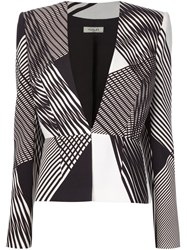 Thierry Mugler Mugler Graphic Printed Blazer Black
