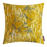 Clarissa Hulse Three Grasses Cushion 45X45cm Turmeric Storm Lemon