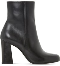 Dune Osmond Leather Ankle Boots Black Leather