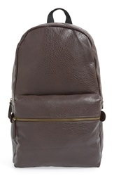 Topman Faux Leather Backpack Brown