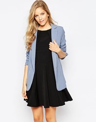 Closet Button Front Blazer Blue