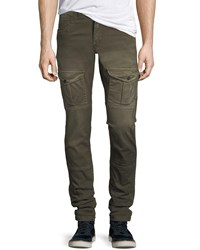 Prps Washed Twill Cargo Pants Green