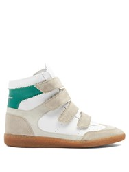 Isabel Marant Bilsy Concealed Wedge Leather Trainers White Multi