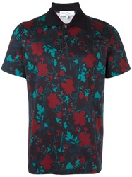 Salvatore Ferragamo Printed Polo Shirt Blue