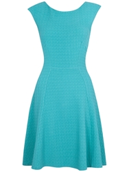Almari Waffle Panel Dress Green