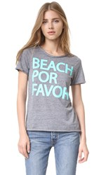 Chaser Beach Por Favor Tee Streaky Grey